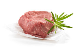 Fresh raw beef steak. On white background Royalty Free Stock Photography