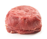 Fresh raw beef steak. On white background Stock Images