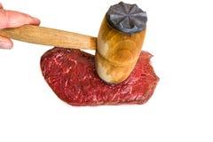 Fresh raw beef steak. On white background Stock Image