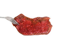 Fresh raw beef steak. On white background Royalty Free Stock Images