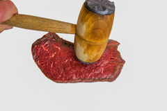 Fresh raw beef steak. On white background Stock Photo