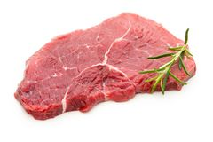 Fresh raw beef steak  on white. Fresh raw bio  beef steak  on white background Stock Images