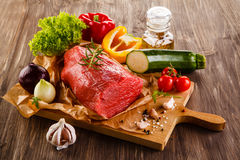 Fresh raw beef Stock Images