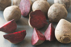 Fresh raw beetroots Royalty Free Stock Photo