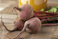 Fresh raw beetroots Royalty Free Stock Image