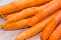 Fresh, raw, bio carrots. Fresh, raw, organic, bio, orange carrots. Healthy vegan vegetarian vegetable food Stock Image