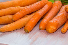 Fresh, raw, bio carrots. Fresh, raw, organic, bio, orange carrots. Healthy vegan vegetarian vegetable food Stock Photography