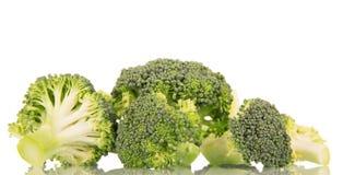 Fresh raw broccoli isolated on white. Fresh raw broccoli isolated on white background Royalty Free Stock Images