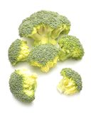 Fresh raw broccoli. Isolated on white background Royalty Free Stock Images