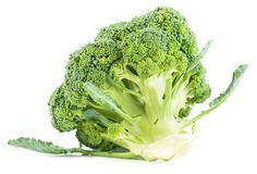 Broccoli vegetable isolated on white background Royalty Free Stock Photos