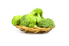 Fresh raw broccoli on a white background. Clipping path. Broccoli cabbage  on a white background cutout Stock Photography