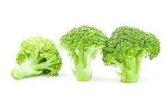 Fresh raw broccoli on a white background. Clipping path. Broccoli floret isolated on a white background cutout Royalty Free Stock Photo