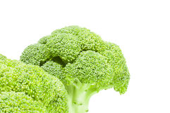 Fresh raw broccoli on a white background. Clipping path. Fresh green broccoli isolated on a white background cutout Stock Photo