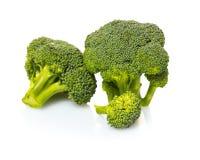 Fresh raw broccoli. On white isolated background Stock Image