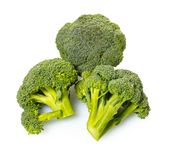 Fresh raw broccoli. On white isolated background Royalty Free Stock Images