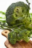 Fresh raw broccoli on wooden board. See my other works in portfolio Royalty Free Stock Image