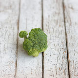 Fresh raw broccoli. On a wooden table. Selective Focus Royalty Free Stock Photography