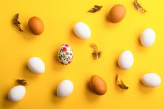 Fresh raw eggs Royalty Free Stock Photo