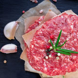 Fresh raw burger cutlets Royalty Free Stock Image