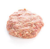 Fresh raw burger cutlets. Isolated on white background Royalty Free Stock Image