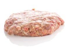 Fresh raw burger cutlets Stock Photos