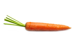 Fresh raw carrot. On a white background Royalty Free Stock Image
