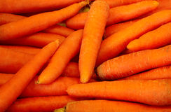 Fresh raw Carrots. In the Market Stock Image
