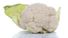 Fresh raw cauliflower. Isolated on white Stock Image