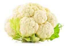 Fresh raw cauliflower on white background.  Stock Photo