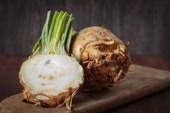 Fresh raw celeriec. Fresh raw celeriac for an healthy nutrition Royalty Free Stock Image