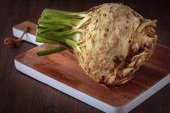 Fresh raw celeriec. Fresh raw celeriac for an healthy nutrition Stock Photos