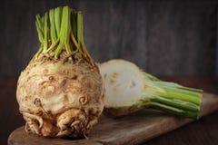 Fresh raw celeriec. Fresh raw celeriac for an healthy nutrition Stock Photo