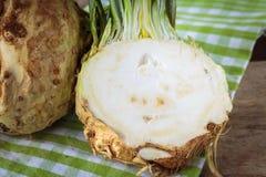 Fresh raw celeriec. Fresh raw celeriac for an healthy nutrition Royalty Free Stock Photos