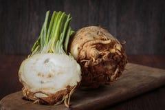 Fresh raw celeriec. Fresh raw celeriac for an healthy nutrition Royalty Free Stock Photo