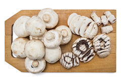 Fresh raw champignons Stock Photo