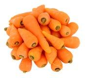 Fresh Raw Chantenay Carrots. Group of raw Chantenay carrots isolated on a white background Royalty Free Stock Photo