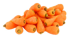 Fresh Raw Chantenay Carrots. Group of raw Chantenay carrots isolated on a white background Royalty Free Stock Images