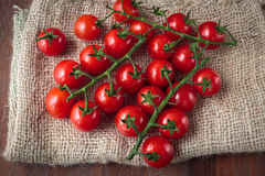 Fresh raw cherry tomatoes. Delicious fresh raw cherry tomatoes for an healthy nutrition Stock Images