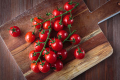 Fresh raw cherry tomatoes. Delicious fresh raw cherry tomatoes for an healthy nutrition Royalty Free Stock Photo