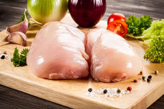 Fresh raw chicken breast Royalty Free Stock Images