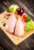 Fresh raw chicken breast Stock Images