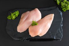 Fresh raw chicken breast fillet Stock Photos