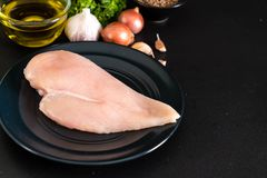 Fresh raw chicken breast fillet Royalty Free Stock Photography