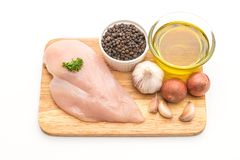 Fresh raw chicken breast fillet Royalty Free Stock Photos