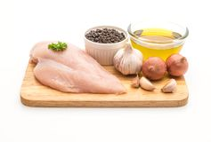 Fresh raw chicken breast fillet Royalty Free Stock Image