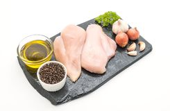 Fresh raw chicken breast fillet Royalty Free Stock Images