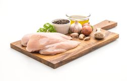 Fresh raw chicken breast fillet Stock Images
