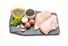Fresh raw chicken breast fillet Stock Photo