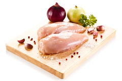 Fresh raw chicken breasts Royalty Free Stock Photo
