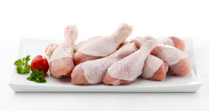 Fresh raw chicken drumsticks Stock Photography